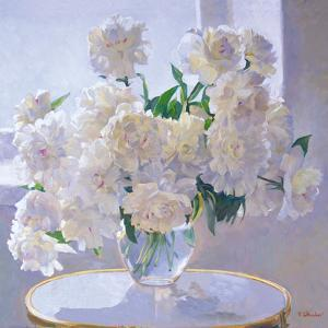 Peonies, Morning Light by Valeriy Chuikov