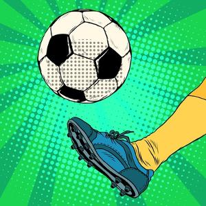 Kick a Soccer Ball by Valeriy Kachaev