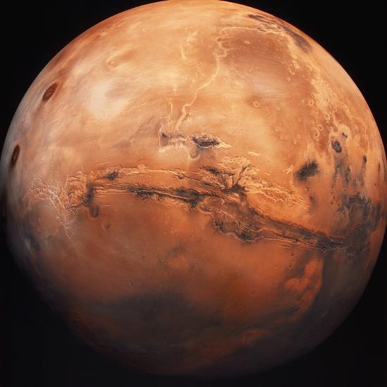 Valles Marineris Hemisphere of Mars--Photographic Print