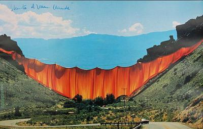 Valley Curtain 1970-1972 - Signed-Christo-Collectable Print