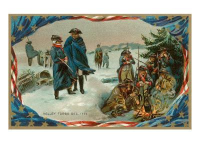 Valley Forge Campfire--Art Print