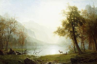 Valley in King's Canyon-Albert Bierstadt-Giclee Print