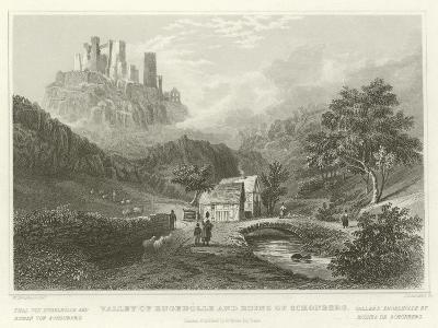 Valley of Engeholle and Ruins of Schonberg-William Tombleson-Giclee Print