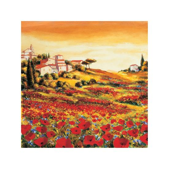Valley of Poppies-Richard Leblanc-Giclee Print