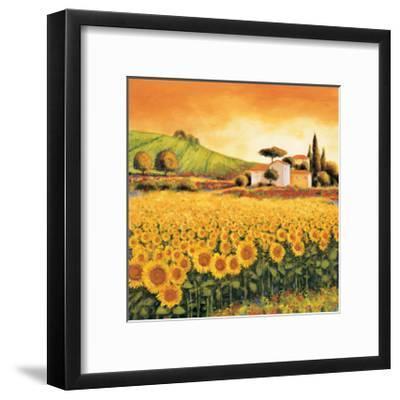 Valley of Sunflowers-Richard Leblanc-Framed Giclee Print