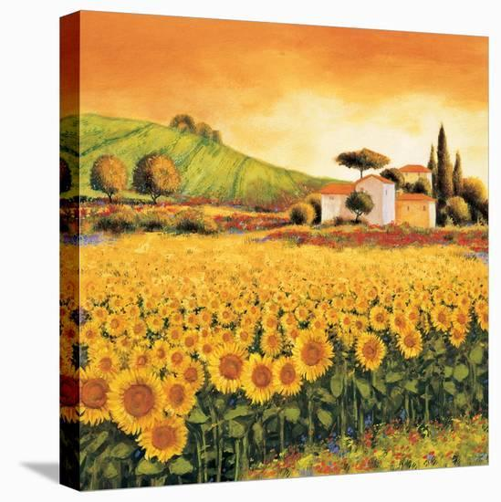 Valley of Sunflowers-Richard Leblanc-Stretched Canvas Print