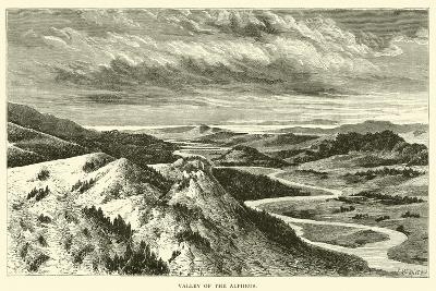 Valley of the Alpheus--Giclee Print