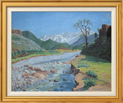 Valley of the Ourika-Sir Winston Churchill-Framed Textured Art