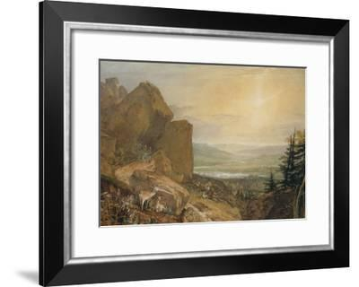 Valley of the Wharfe with Otley in the Distance-J^ M^ W^ Turner-Framed Giclee Print
