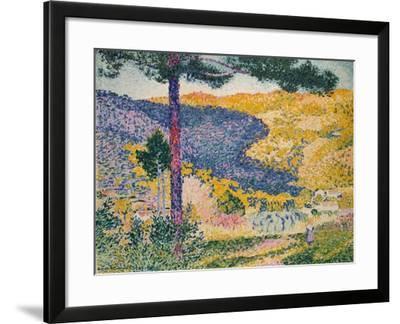 Valley with Fir (Shade on the Mountain), 1909-Henri-Edmond Cross-Framed Giclee Print