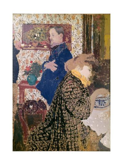 Vallotton and Misia in the Dining Room at Rue Saint-Florentin, 1899--Giclee Print