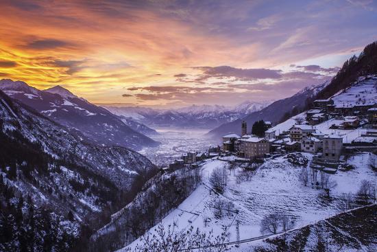 Valtellina, Campo Tartano Village, Lombardy, Italy-ClickAlps-Photographic Print