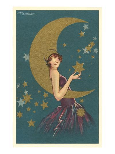 Vamp with the Moon--Art Print