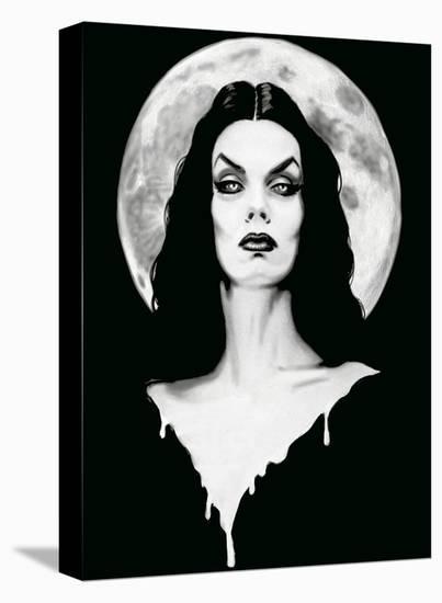 Vampira Dark Goddess of Horror--Stretched Canvas Print