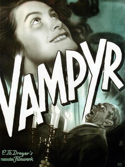 Vampyr, German poster art, Sybille Schmitz, Maurice Schutz, 1932--Art Print