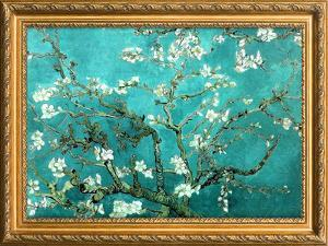 Van Gogh Almond Branches Poster with Gilded Faux Frame Border