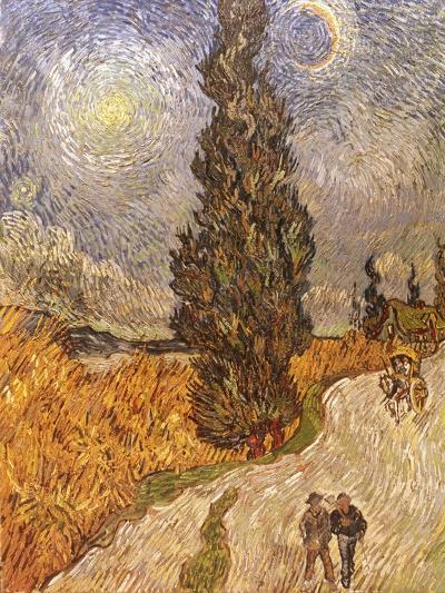 Van Gogh: Cypresses, 1889-Vincent van Gogh-Giclee Print