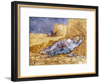 Van Gogh: Noon Nap, 1889-90-Vincent van Gogh-Framed Giclee Print
