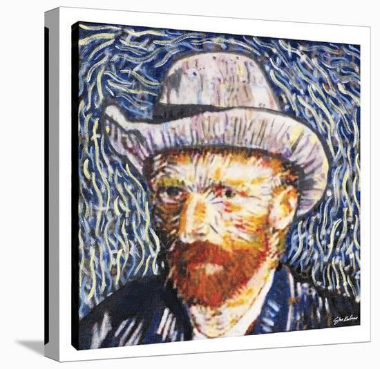 Van Gogh Portrait-Steve Kaufman-Gallery Wrapped Canvas