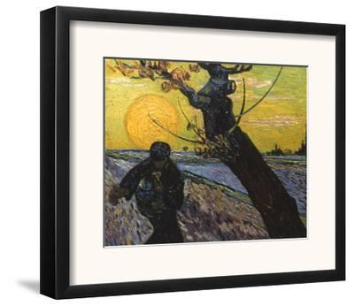 Van Gogh: Sower, 1888-Vincent van Gogh-Framed Giclee Print