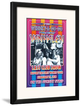 Van Halen at the Whiskey A-Go-Go-Dennis Loren-Framed Art Print