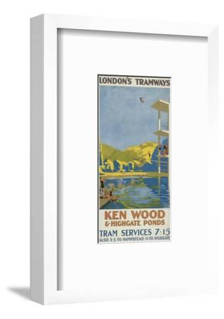 Kenwood and Highgate Ponds, London County Council (LC) Tramways Poster, 1927