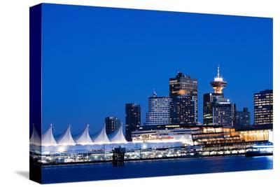 Vancouver Bc Evening Skyline--Stretched Canvas Print