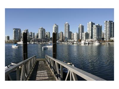 Vancouver from GranvilleIsland--Art Print