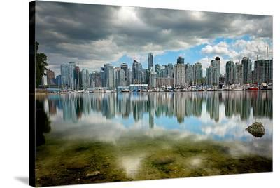 Vancouver from Stanley Park--Stretched Canvas Print