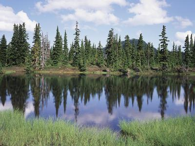 Vancouver Island, Strathcona Provincial Park, Reflecting in a Tarn-Christopher Talbot Frank-Photographic Print