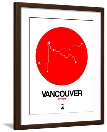 Vancouver Red Subway Map-NaxArt-Framed Art Print