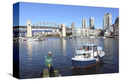 Vancouver's False Creek Ferry--Stretched Canvas Print