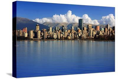 Vancouver Skyline Canada--Stretched Canvas Print