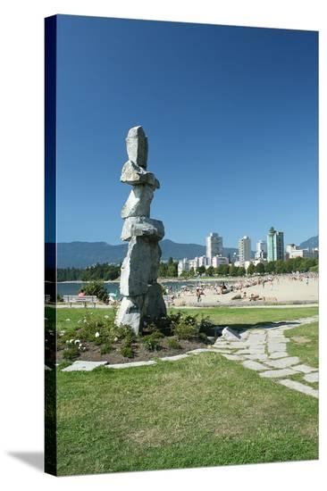 Vancouver Symbolism City View--Stretched Canvas Print