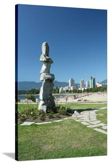 Vancouver Symbolism City View--Stretched Canvas Print