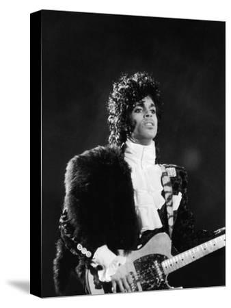 Prince Plays Guitar During Concert, 1984