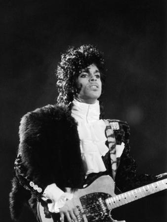 Prince Plays Guitar During Concert, 1984