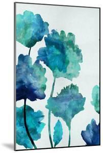 Aqua Blossom Triptych II by Vanessa Austin
