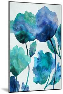 Aqua Blossom Triptych III by Vanessa Austin
