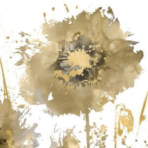 Flower Burst in Gold I by Vanessa Austin