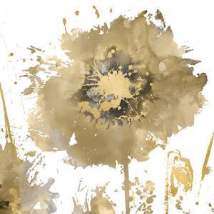Flower Burst in Gold I by Vanessa Austin