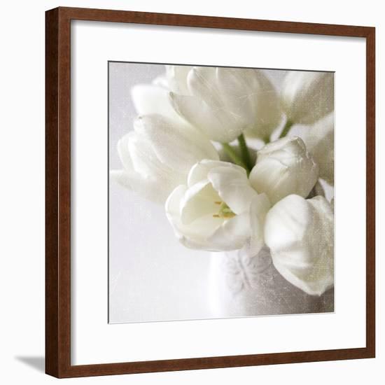 Vanishing in the White Elegance Square-Sarah Gardner-Framed Photo