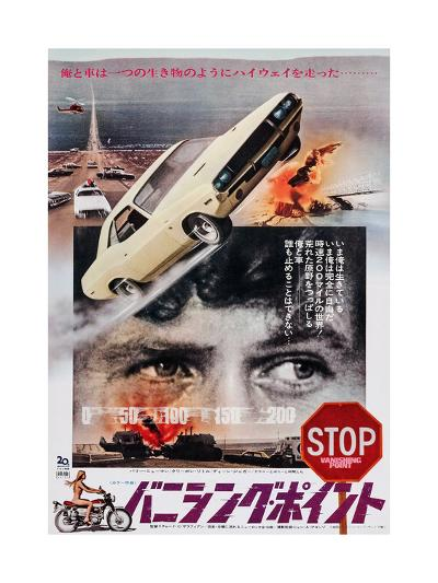 Vanishing Point, Japanese Poster Art, Barry Newman, 1971--Giclee Print