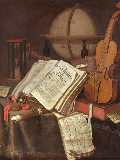 Vanitas, (An Allegorical Still-Life)-Edwaert Colyer or Collier-Giclee Print