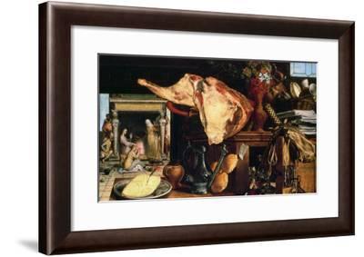 Vanitas Still Life (Christ with Mary and Martha), 1552-Pieter Aertsen-Framed Giclee Print