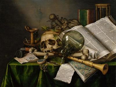 Vanitas by Edward Collier Fine Art Giclee Canvas Print