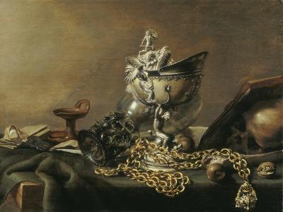 Vanitas Still-Life with Nautilus Cup, 1634-Pieter de Hooch-Giclee Print