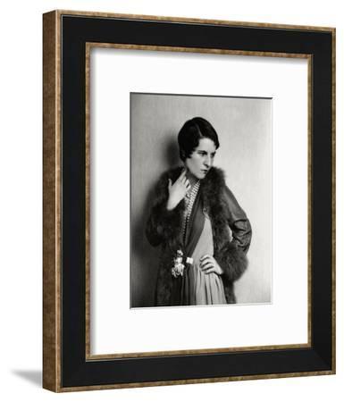 Vanity Fair - August 1929-Florence Vandamm-Framed Premium Photographic Print