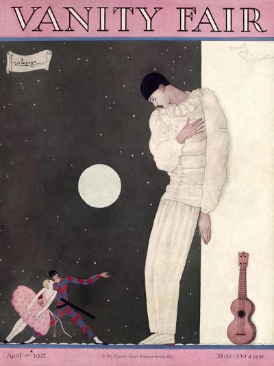 Vanity Fair Cover - April 1927-Georges Lepape-Premium Giclee Print
