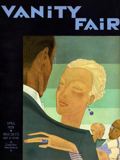Vanity Fair Cover - April 1929-Jean Pag?s-Premium Giclee Print